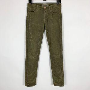 Vince Corduroy Pants Women's Size 28 Skinny Olive